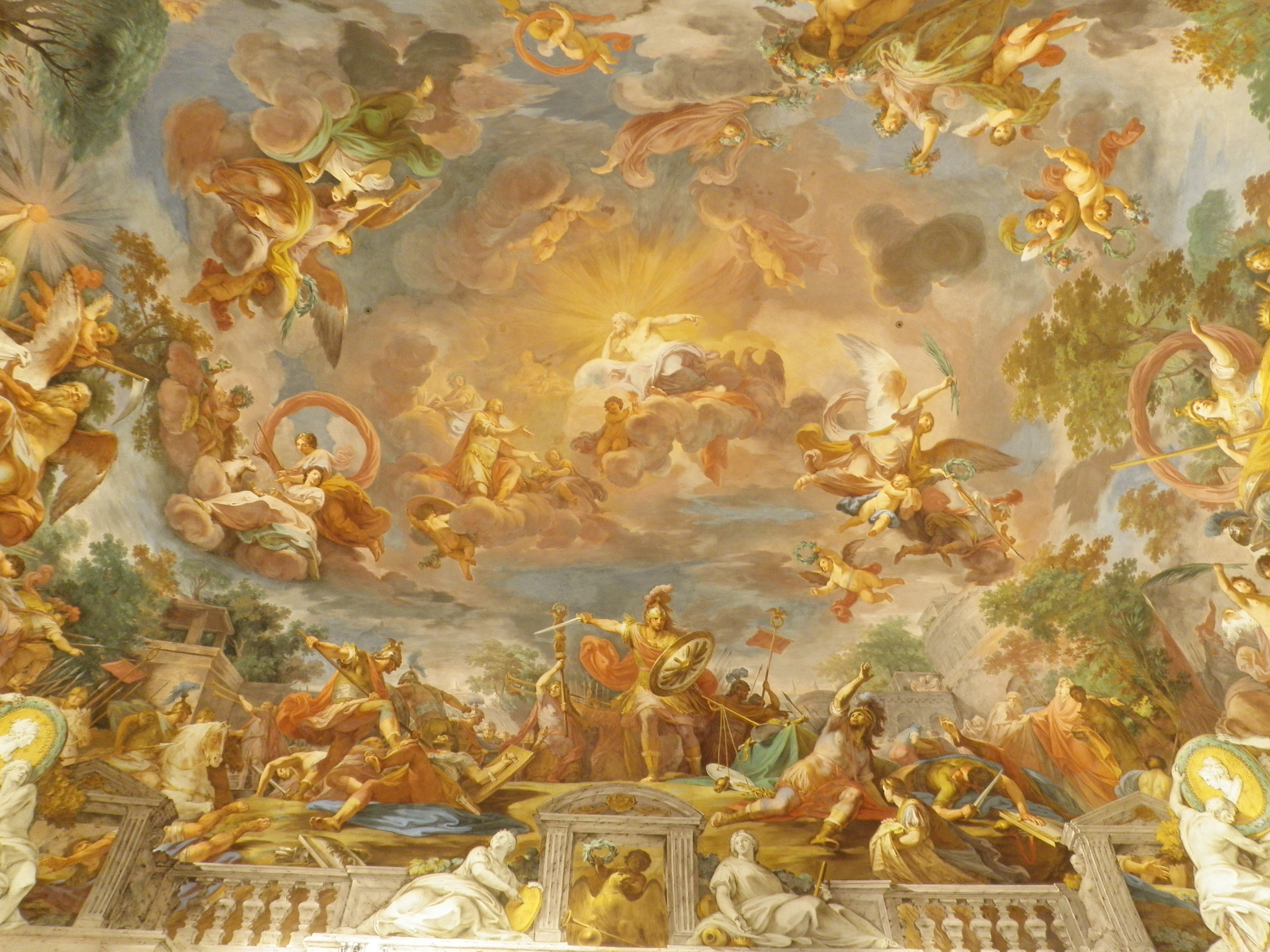Beautiful galleria borghese pamela schwartz for Painting on ceiling